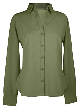 Tri-Mountain Women's Tailored Fit Open Neck Waffle Shirt_Sage_X-Small