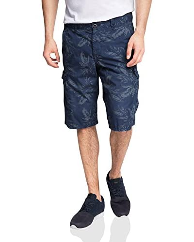 EDC by Esprit Men's Aop Bermuda Shorts, Blue (Dark Blue), XX-Large (Manufacturer Size:38) blau