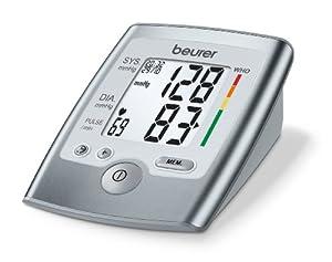 Beurer BM35 - Tensiómetro de Brazo, indicador Oms, gran pantalla LCD, color silver