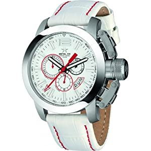 Metal CH 2110-44 Chrono Two Tone Leather Strap Watch