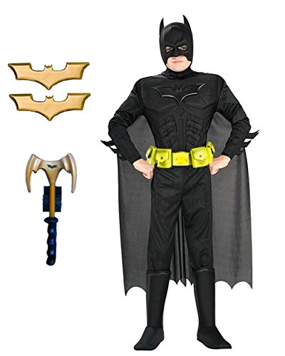 Child's Deluxe Batman The Dark Knight Muscle Chest Costume Utility Bundle