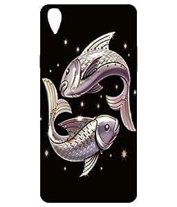 Letz Dezine Lucky Fish Design Printed Mobile Back Case Cover for OPPO A37