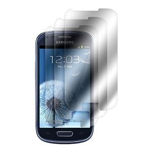 3x pellicola a specchio per Samsung Galaxy S3 Mini i8190 ...