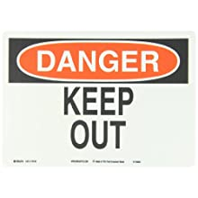 "Brady Red And Black On White Color Sustainable Safety Sign, Legend ""Danger Keep Out"""