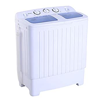 costway portable mini compact tub 11lb washing machine washer spin dryer