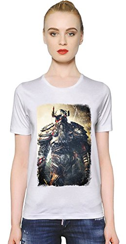 Viking Battle For Asgard King T-shirt donna Women T-Shirt Girl Ladies Stylish Fashion Fit Custom Apparel By Slick Stuff XX-Large
