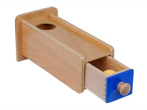 Montessori Object Permanence Box w/ Drawer - 1
