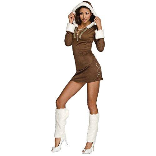 GSG Sexy Eskimo Costume Adult Womens Christmas Outfit Halloween Fancy Dress (Eskimo Outfit)