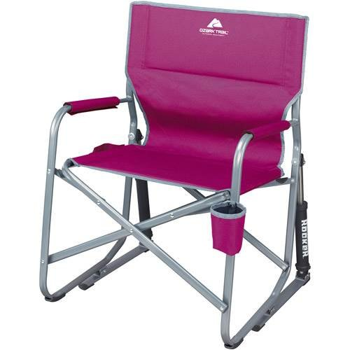Ozark Trail Portable Rocking Chair (Raspberry) front-690369