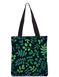 Snoogg Seamless Pattern With Leaf Designer Poly Canvas Tote Bag - B012FYZUBC