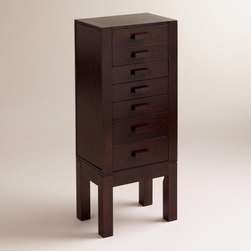 Dark Wood Jewelry Armoire front-1039810