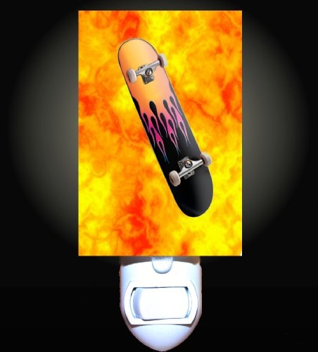 Fireball Skateboard Decorative Night Light front-186190
