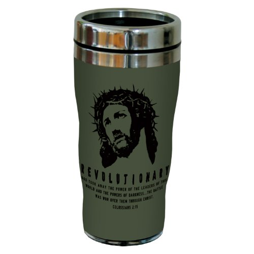 Tree-Free Greetings Sg24324 Revolutionary: Colossians 2:15 Sip 'N Go Stainless Steel Lined Travel Tumbler, 16-Ounce