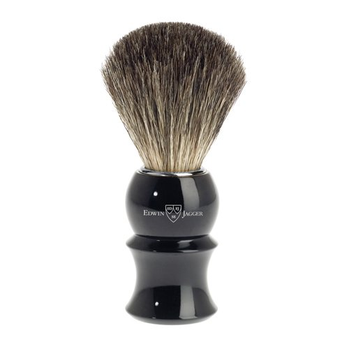 Edwin Jagger 89p16 Pure Badger Hair Shaving Brush, Black, Medium