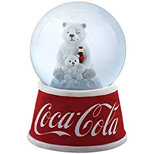 Westland Giftware Resin Water Globe, 45mm, Coca-Cola Polar Bear