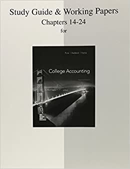 College Accounting Chapters 1-12 with Study Guide and ...