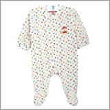 Multi-color polka dot Koala Collection Footed Snap Front Infant Baby Rompers. Long Sleeve Cotton Velour Sleep N Play Baby Pajamas. (9m)