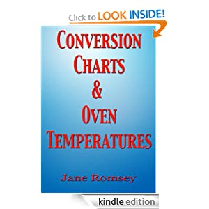 Conversion Charts and Oven Temperatures. Baking aid to convert cups, ounces and liquid measurements. (Traditional British Recipes)