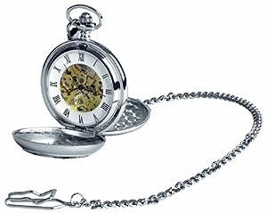 Woodford Pocket Watch 1873/SK Skeleton Chrome Finished