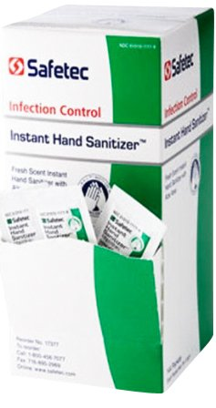 Safe-Tec Hand Sanitizer 1 / 32 Oz Packets 6 Boxes (864 packets) by Safetec of America - MS89325
