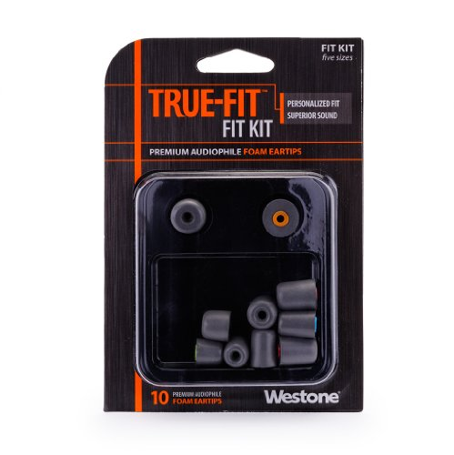 Westone True-Fit Foam Eartips For Universal Fit Earphones And Monitors, Five Pairs In Assorted Sizes