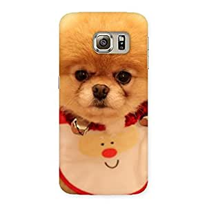 Enticing Cutest Pup Multicolor Back Case Cover for Samsung Galaxy S6 Edge