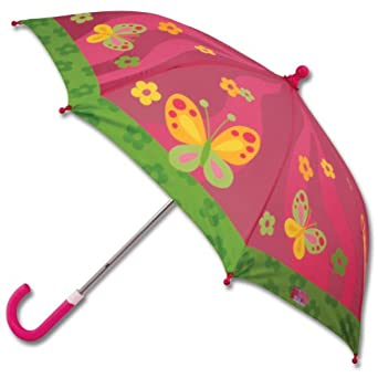 Stephen Joseph Little Girls'  Umbrella, Butterfly, One Size