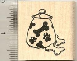 Doggie Treat Jar Rubber Stamp