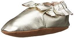 Robeez Maggie Moccasin Crib Shoe (Infant), Gold, 12-18 Months M US Infant