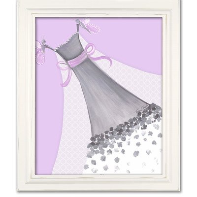 Doodlefish DB1700prp-White Butterfly Couture Artwork, White Frame