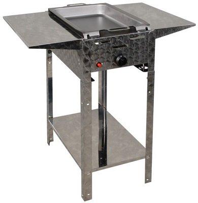 Gasbräter 4 kW Standmodell mit Stahlpfanne und Abstellplatten 1-flammig Gasgrill Grill Gastrobräter Profigrill Verein jetzt kaufen