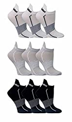 TuffRider Low Cut Ankle Sport Socks (Pack of 9)