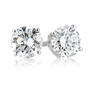 Click to buy 18K White Gold Round 1 Carat Diamond Stud Earrings from Amazon!