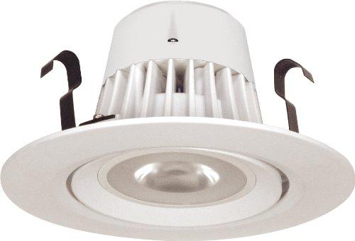 Satco S8991 9 Watt (50 Watt) 650 Lumens 4 Inch Recessed Downlight Retrofit Led Warm White 3000K 40 Beam Pattern Damp Location Lamp, Dimmable