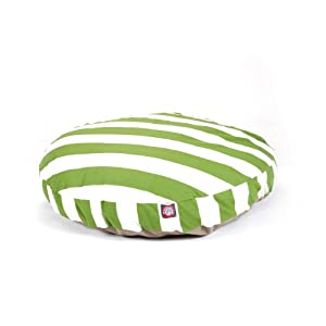 Majestic Pet Sage Vertical Stripe Round Pet Bed, Large