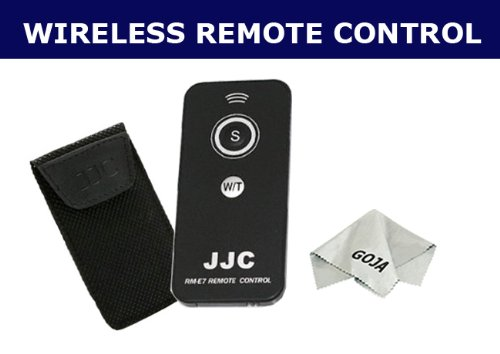 IR Wireless Remote Control For Pentax S S4 S4I S5I S5N S6 S7 K10D K100D K-X K7 K200D K2000 K20D, OPTIO SV 750Z 550 450 330 + 1 Ultra Fine Microfiber Cleaning Cloth GOJA Logo