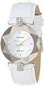 Jowissa Women's J5.275.M Facet Strass Round Stainless Steel Mother-Of-Pearl Dial Crystal Watch