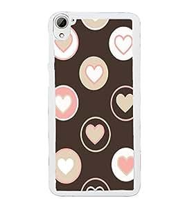 Hearts 2D Hard Polycarbonate Designer Back Case Cover for HTC Desire 826 Dual Sim