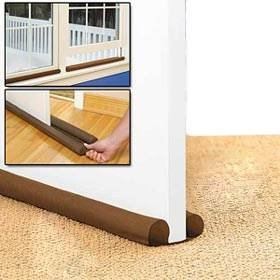 2 pack double sided twin draft guard draught excluder for doors windows for Exterior door draught excluder