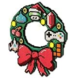 8-bit LED Christmas Wreath - Retro Gaming Festive Decor