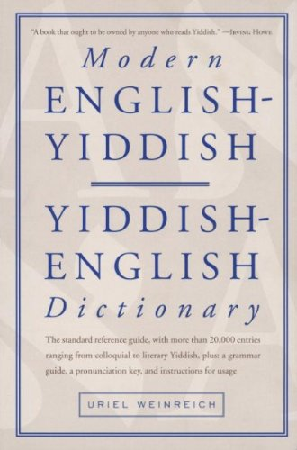 Modern English Yiddish Yiddish English Dictionary