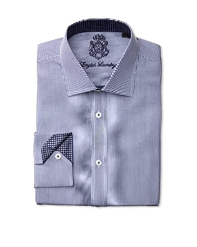 English Laundry Men's Micro Check Dress Shirt