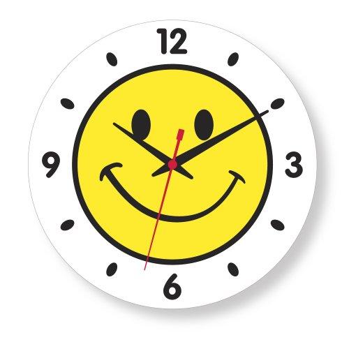 Eyecatcher Gallery Smiley Face Yellow with Numbers Clock : Americana: eyecatchergallery.com/smiley-face-yellow-numbers-clock/dp/b0042l1sky