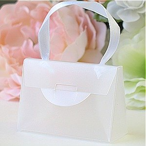 MagaMallGroup White Plastic Mini Purse Favor Boxes (2 3/4in. L x 2in. W x 1 1/8in. H) - pack of 12 at Sears.com