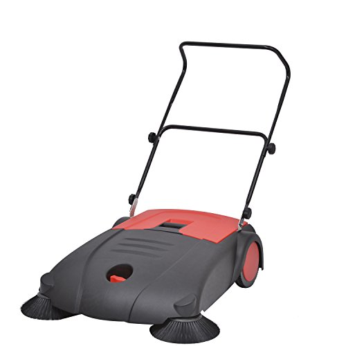 "New Household Homcom 48""Lx33.1""Wx39.4""H Red And Black Outdoor Push Sweeper front-397433"