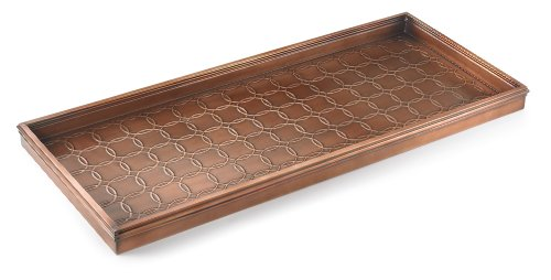 Good Directions 100VB Circles Multi-Purpose Boot Tray for Boots, Shoes, Plants, Pet Bowls, and More, Copper Finish