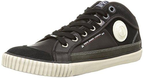 Pepe Jeans Industry Half, Herren Sneaker  Schwarz Noir (999Black) 40
