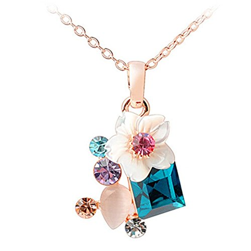 [AngelBliss AngelBliss Flowers-South Korean Style Crystal Necklace Pendant] (Diy Cute Costumes For Teenagers)