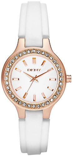 DKNY Rose-gold with Glitz White Dial Women's watch #NY8220