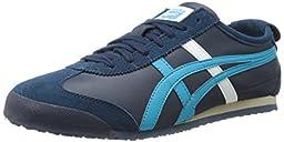 Onitsuka Tiger Mexico 66 Fashion Sneaker, Navy/Atomic Blue, 12.5 M Men\'s US/14 Women\'s M US